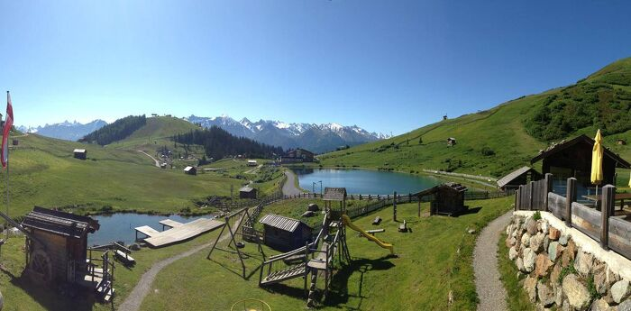 Schalberalm - big sun terrace with a wonderful view of the Tyrolean mountains